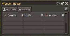 Inventar (inventory) eines Wohnhauses
