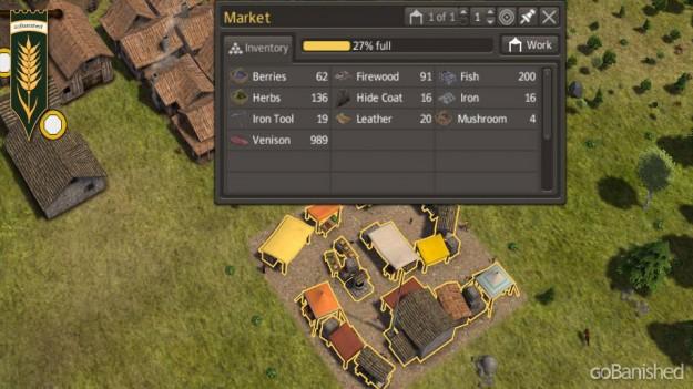 Marktplatz mit besserer Verteilung vorhandenen Materials