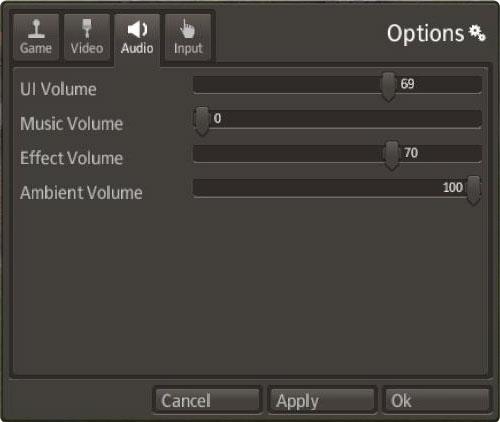 Banished Options > Audio