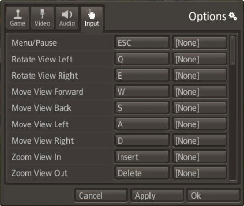 Banished Options > Input