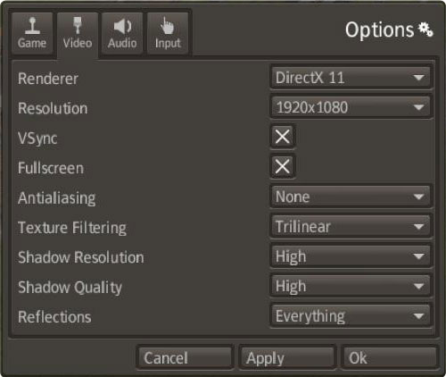 Banished Options > Video