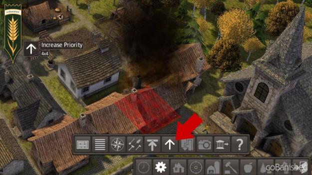Katastrophe Feuer: Priorität des Brandherdes erhöhen